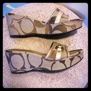 Coach Tyra II Wedged Sandals